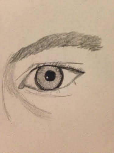 Misha Collin's eye drawn by me